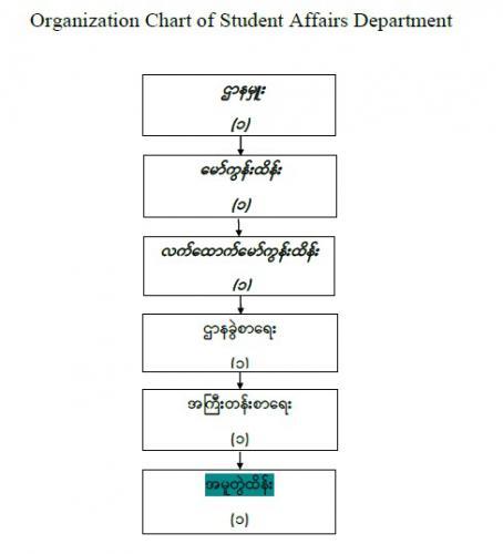Organization Chart  of Student Affair